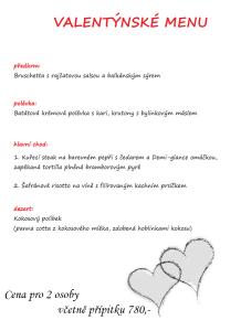 valentýnské menu 2019
