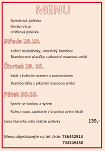víkend menu